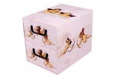 Kutija karton 2 ladice 25,5x29x35,5cm   MS87111