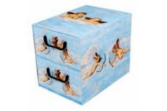 Kutija karton 2 ladice 25,5x29x35,5cm   MS87112